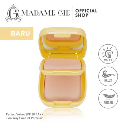 Foto Produk Madame Gie Perfect Velvet SPF 30 Two Way Cake - MakeUp Bedak Padat - Suede dari Madame Gie Official