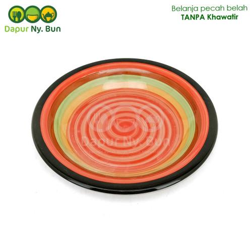 Foto Produk Piring Makan Model Omega Motif PELANGI Ukuran 9Inch dari Dapur Ny.Bun