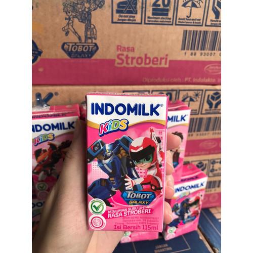 Foto Produk Susu UHT Indomilk kids 115ml x 40pc (Coklat) - Strawberi dari Centraprint