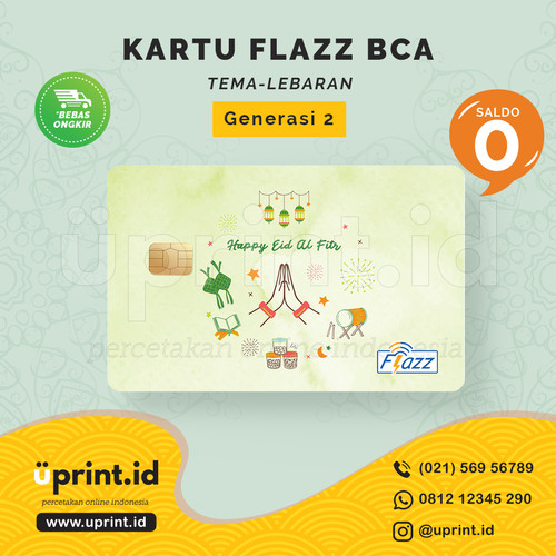 Foto Produk Kartu Flazz BCA Gen 2 | Saldo 0 | Edisi Lebaran| FLZ-L-002 dari Uprint.id
