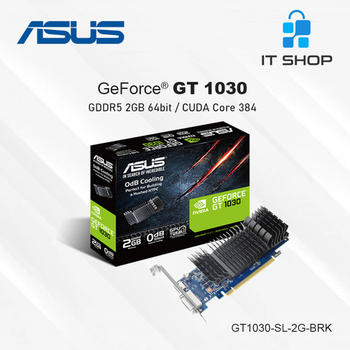Foto Produk ASUS VGA GeForce GT 1030 Silent 2GB GDDR5 dari IT-SHOP-ONLINE