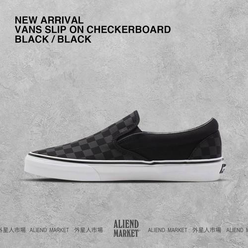 Foto Produk VANS SLIP ON CHECKERBOARD BLACK/BLACK, ORIGINAL BNIB dari Aliend Market