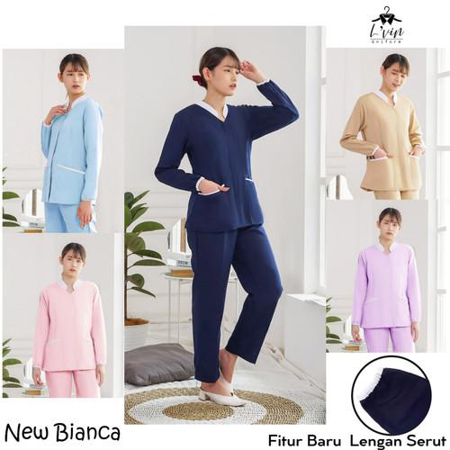 Foto Produk Bianca Series Lengan Panjang Baju Seragam Suster / baby sitter / Nanny - Abu-abu, S dari Lvin Official