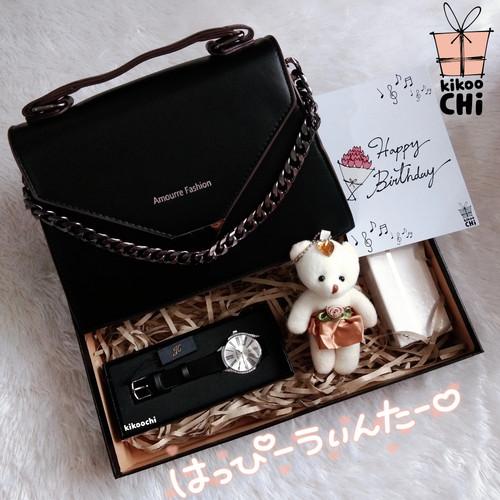Foto Produk Kikoochi Japanese Gift Box 3 - Hadiah Kado Ulang Tahun Wanita Istri - Hitam dari kikoochi