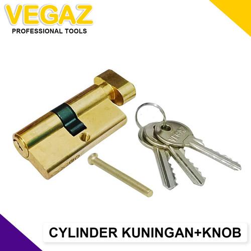Foto Produk VEGAZ - Cylinder / Silinder Kuningan Kunci Knob Pintu Rumah Kayu dari Vegaz-Tools