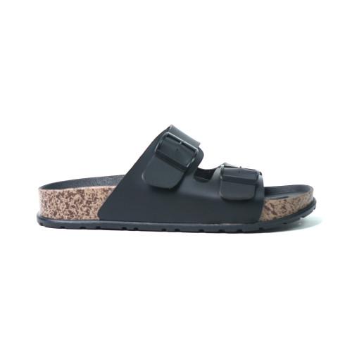 Foto Produk Sandal Pria Casual Sandal Slop Birken Sol Puyuh Brody Bravo - black, 43 dari ninofashions