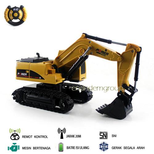 Foto Produk Mainan Mobil Remot Kontrol RC Beko Excavator Truk Model - Coklat dari Mafemale