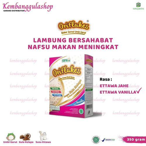 Foto Produk ORIFLAKES SEREAL KESEHATAN SOLUSI ASAM LAMBUNG 350 GRAM - VANILLA - Vanilla dari kembanggulashop