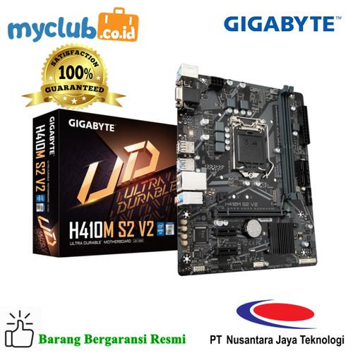 Foto Produk Gigabyte Motherboard H410M-S2 V2 Socket LGA1200 2 x DDR4 Micro ATX dari Myclub