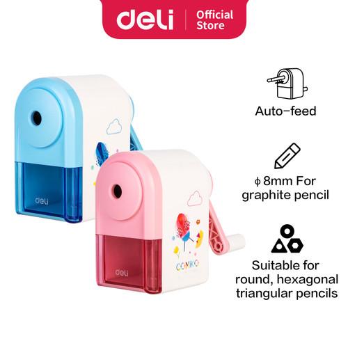 Foto Produk Deli Sharpener / Rautan Pensil Auto-feed Motif Kartun Simple E0641S - Biru dari Deli Stationery