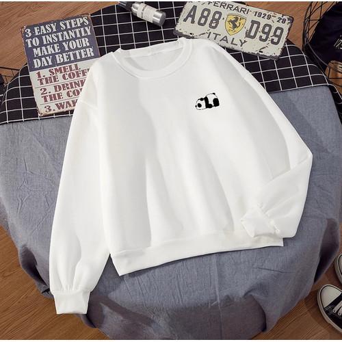 Foto Produk Sweater Basic Panda M-XXL ( Wanita Pria ) - Putih, M dari toko cheyla