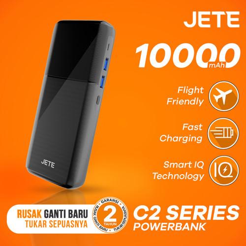 Foto Produk Powerbank JETE C2 10000 mAh Fast Charging and Smart IQ Garansi 1 Tahun - Hitam dari JETE Official Surabaya