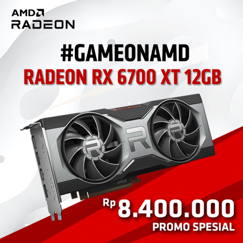 Foto Produk AMD RADEON RX6700XT REFERENCE EDITION dari silicon ONE Computer