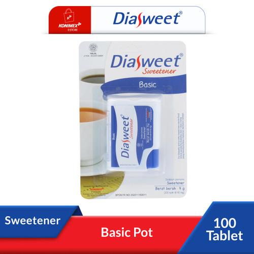 Foto Produk DIASWEET Sweetener BASIC Pot isi 100 tablet pemanis rendah kalori dari Konimex Store