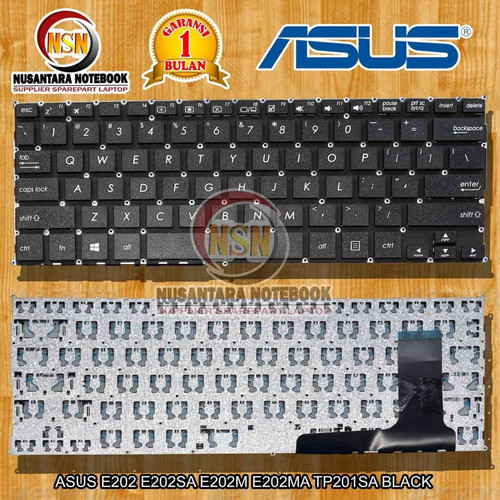Foto Produk Keyboard Asus E202 E202S E202SA E202MA TP201SA Hitam dari Nusantara Notebook