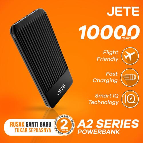 Foto Produk Powerbank JETE A2 10000 mAh Fast Charging & Smart IQ Garansi 25 Bulan - Hitam dari JETE Official Surabaya