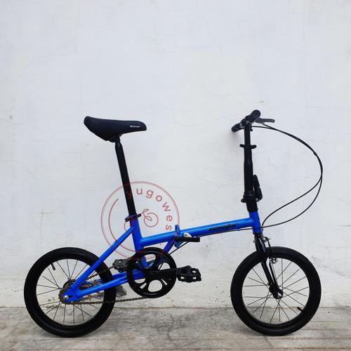 Foto Produk Sepeda Lipat Senator 16 - Biru dari yugowes
