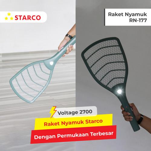 Foto Produk Starco Raket Nyamuk LED Light Rechargeable RN177 - Hijau dari Starco Official Store