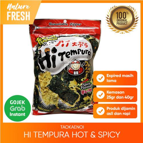Foto Produk Tao Kae Noi Hi Tempura Seaweed Spicy- Snack Tempura Pedas - 40gr dari NatureFresh