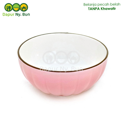 Foto Produk Mangkok Nasi Besar Warna Polos Model Labu Ukuran 6 Inch - Merah Muda dari Dapur Ny.Bun