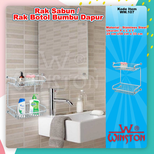 Foto Produk Rak Soap/Rak Tempat Sabun Dinding Kamar Mandi Stainless Winston WW 107 dari WINSTON SUKSES ABADI