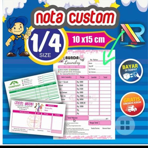 Foto Produk Nota Custom 1 ply 2 ply 3 ply Murah 1/4 Folio   Cetak Buku Nota - 2 Play dari NARENDRA MORISON