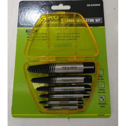 Foto Produk TAP BALIK SET 6 PCS / ALAT PEMBUKA BAUT RUSAK SCREW EXTRACTOR 6 PCS dari Ali baba. Com