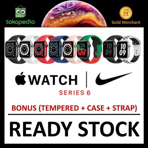 Foto Produk Apple Watch Series 6 2020 44mm 40mm Nike RED/Blue/Gray Black/Gold Pink - 40mm NO BONUS, GRAY BLACK dari Big Berry Cellular