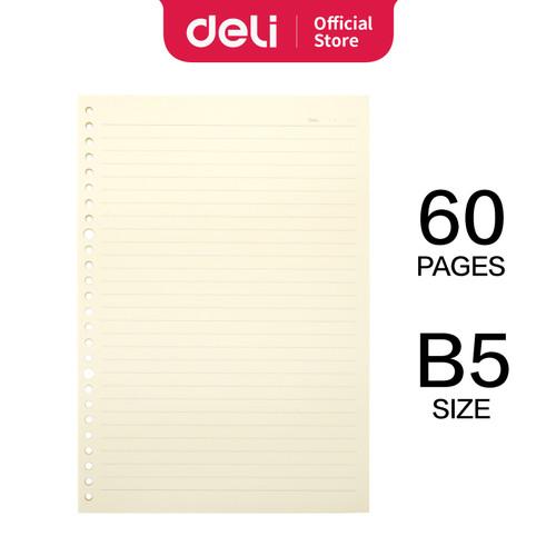 Foto Produk Deli Loose-Leaf Buku Notebook Extra leads B5 60lembar NB560 dari Deli Stationery