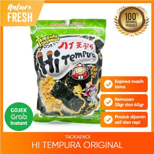 Foto Produk Tao Kae Noi Hi Tempura Seaweed Original - Snack Tempura Original - 25gr dari NatureFresh