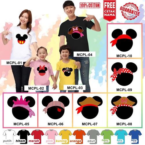 Foto Produk Kaos / Baju MICKEY MINNIE COUPLE ANAK BANYAK MOTIF (FREE NAMA) dari KaosEry