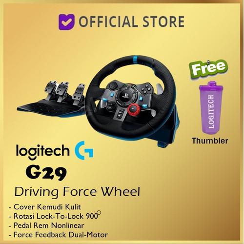 Foto Produk Logitech Driving Force G29 Racing Wheel PS3 PS4 Playstation 3 4 - Free Thumbler dari DUNIA COMPUTER & SERVICE