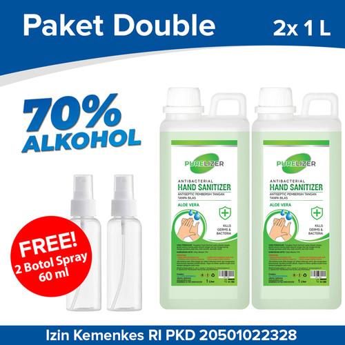 Foto Produk Handsanitizer 2 Liter PURELIZER Refill Spray Hand sanitizer 1L x2 pcs dari Purelizer