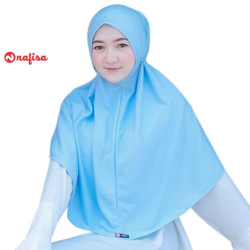 Foto Produk Nafisa At Home Premium   Hijab Non Pet Kaos Premium   Khimat Pet Antem - Bark Silver, M dari Nafisa