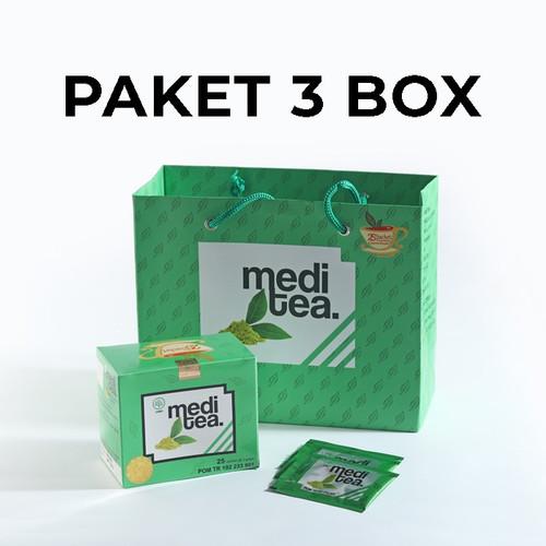 Foto Produk Paket 3 Box Meditea Teh Hijau antikanker antioksidan dan autoimun dari Mediteaid