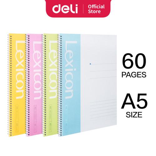 Foto Produk Deli Loose-Leaf Buku Notebook spiral A5 60 lembar 7683 - A5 60 LEMBAR dari Deli Stationery