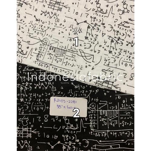 Foto Produk Kain bahan Katun Jepang Tokai senko motif Math - Nomor 1 dari Toko Kain Grosir