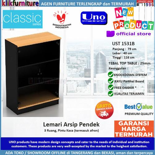 Foto Produk UST 1531B UNO Lemari Arsip FIling Cabinet Pendek dari klikfurniture