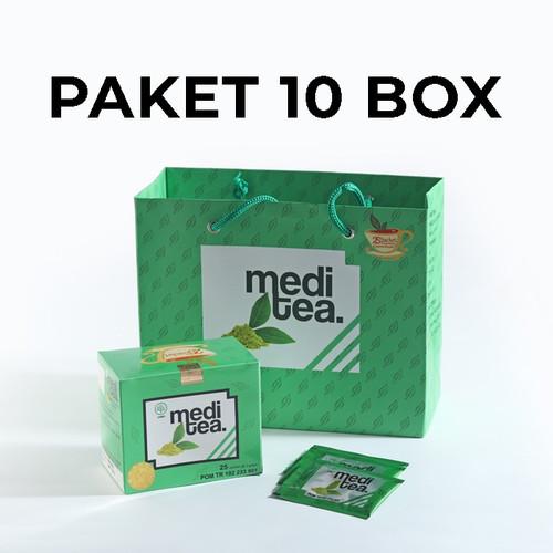 Foto Produk Paket 10 Box Meditea Teh Hijau antikanker antioksidan dan autoimun dari Mediteaid