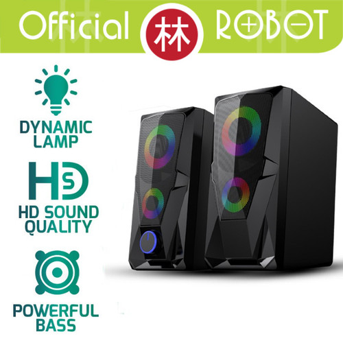 Foto Produk Robot RS200 E-Sports Gaming Speaker 3.5mm AUX With 2 Channel Stereo dari Liem