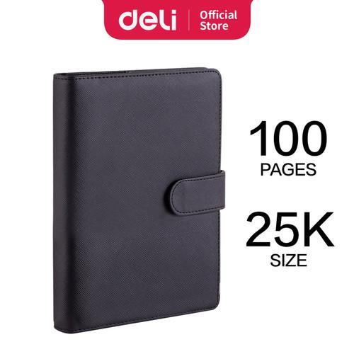 Foto Produk Deli loose-leaf notebook Buku Catatan 25k 210 * 145mm 100 lembar 315X - Hitam dari Deli Stationery
