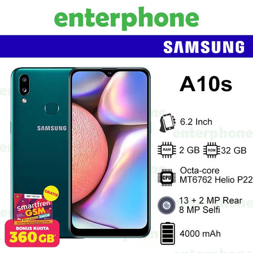 Foto Produk Samsung Galaxy A10s 2/32 2GB 32GB Garansi Resmi SEIN - Hitam dari enterphone2