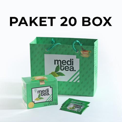Foto Produk Paket 20 Box Meditea Teh Hijau antikanker antioksidan dan autoimun dari Mediteaid