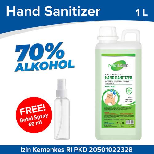Foto Produk Hand Sanitizer Cair 1 Liter PURELIZER Aseptic 1L [ Izin KEMENKES RI ] dari Purelizer