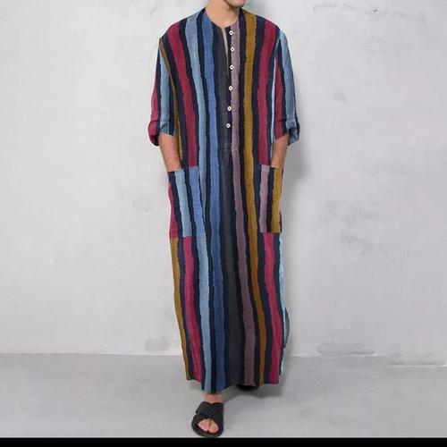 Foto Produk baju koko india kemeja pria muslim sporty / Kurta kaftan robe men dari Kuro-Shiro