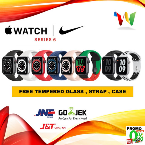 Foto Produk Apple Watch Series 6 2020 44mm 40mm Nike RED/Blue/Gray Black/Gold Pink - 40mm no bonus, SPORT RED dari winselindo