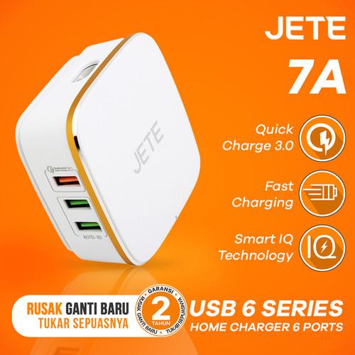 Foto Produk Charger JETE RYZKI 7A 6 USB Output Quick Charge 2.0 dari JETE Official Surabaya