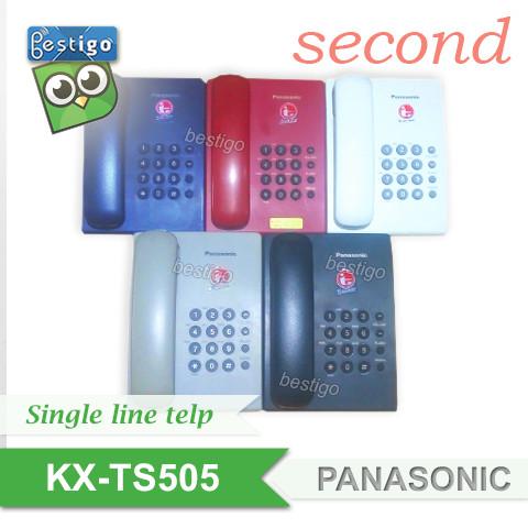 Foto Produk Telephone rumah single line analog standar Panasonic KX-TS505 Second - Putih dari BESTIGO PABX TELEPON