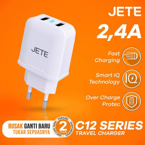 Foto Produk Charger JETE C12 Dual Output 2.4A Fast Charging dari JETE Official Surabaya