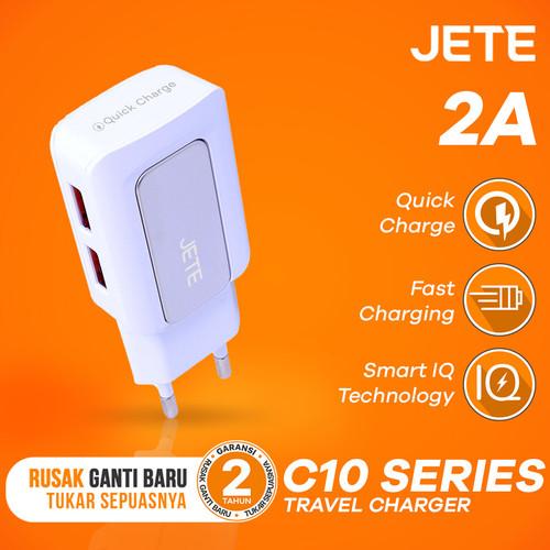 Foto Produk Charger JETE C10 2.1A Dual Output Fast Charging dari JETE Official Surabaya